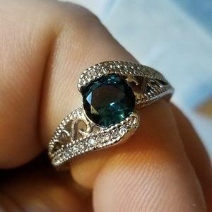 Beautiful Tanzenite Saphire 925 Ring